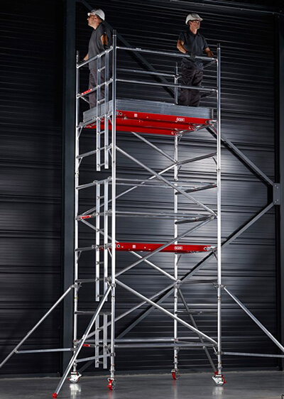 3t double width scaffold tower aluminium hire
