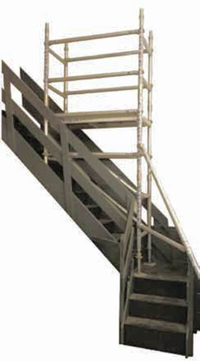 scaffold tower for stairwel hire